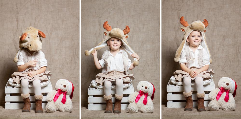Dziecięca sesja fotograficzna na Boże Narodzenie