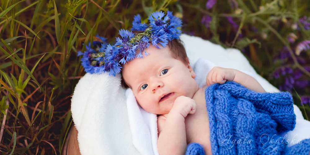 fotografia noworodkowa w plenerze